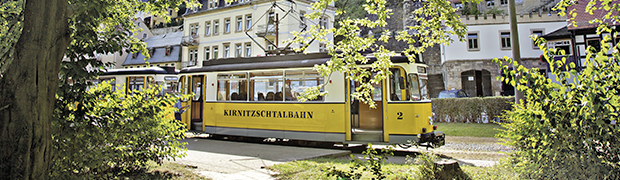 Kirnitzschtalbahn in Bad Schandau