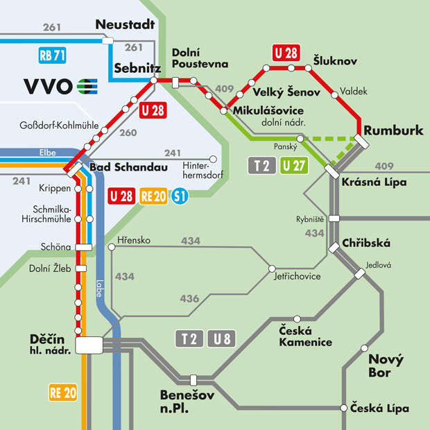 Db Fahrplan Karte.Nationalparkbahn U 28 Vvo Navigator Ihr Mobilitätsportal Für